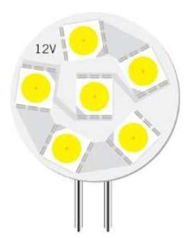 6 LED Caravan Light - G4-5050-6-CW (Cool White)