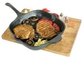 Steak Pan Square Cast Iron - SQS-28