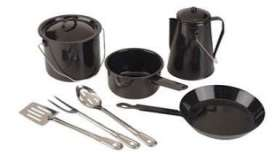 8pc Black Enamel Cooking - 08359