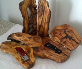 Wood / Knife Set Bosveld
