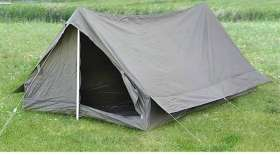Military Two-Man Water Resistant Tent - Olive Green