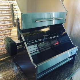 2 in 1 Gas or Charcoal Mini Spit Braai
