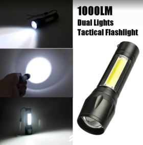 Dual 1000 LM Tactical LED Flashlight