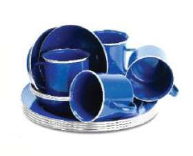 12PC Enamel Crockery Set - SVG140