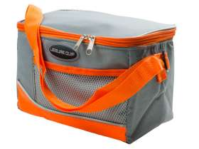 6 Can Soft Cooler Bag - Grey/Orange