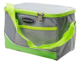 6 Can Soft Cooler Bag - Grey/Green