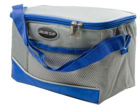 6 Can Soft Cooler Bag - Grey/Blue