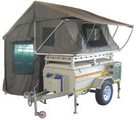 Savuti unbraked with tent