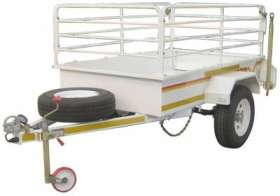 Flatdeck 1/2 ton 14 inch with rails (unbraked)