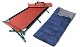 Stretchers and Sleeping bags