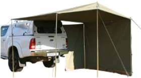 Vehicle Awning with Side Wall