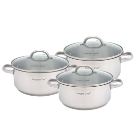 6pc Snappy Chef Budget Cookware Set - SSCS005