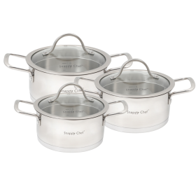 6pc Snappy Chef Platinum Cookware Set - SSCS006
