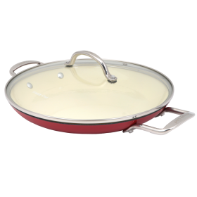 30cm SC Superlight CI Open Round Griddle - CIRG030