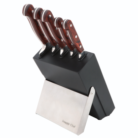 Snappy Chef 6pc Kitchen Knife Set with Block - SCKS005