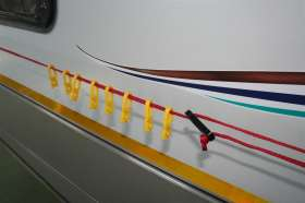Caravan Washing Line Curved