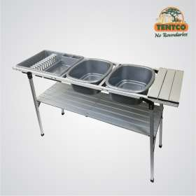 Aluminum Double Dishwash Stand