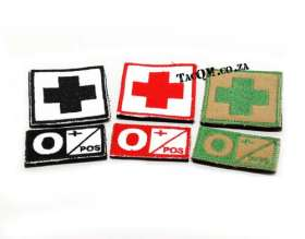 O+ Blood Group Patches.