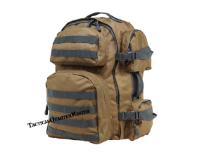 Tactical Backpack - Tan w/Grey Trim