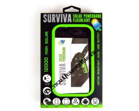 Survival Solar Power Bank with Flash Light + Light Cigarettes