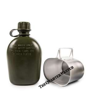 Water bottle, with cover and 'fire bucket'