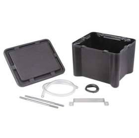 Black plastic battery box