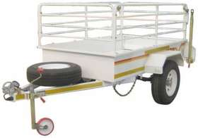 Venter Flatdeck 3.4 Ton 14inch Unbraked with Rails Trailer