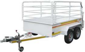 Venter Flatdeck 2.4m 1Ton Tandem with Rails Braked Trailer