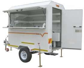 Venter 7 Ft Kiosk Braked Trailer
