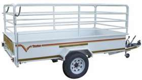 Venter Flatdeck 3m 1Ton with Rails Braked Trailer