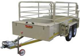 Venter Flatdeck 3m with Rails and Jerry Can Holders Trailer