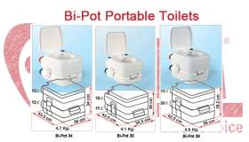 Bi-Pot Portable Toilet