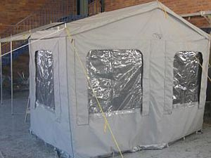 Rear Enclosed Tent 1