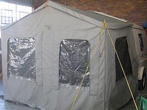 Rear enclosed tent