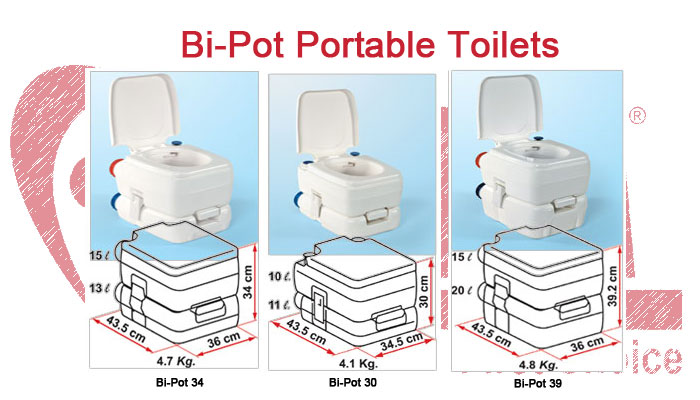 Bi-Pot Portable Toilets