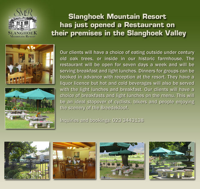 Slanghoek New Restaurant