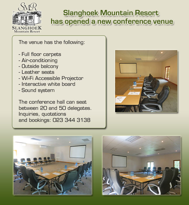 Slanghoek New Conference Venue