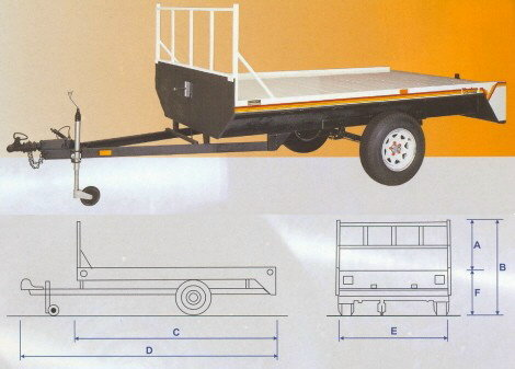1 Ton Furniture Trailer 3.6m Tan