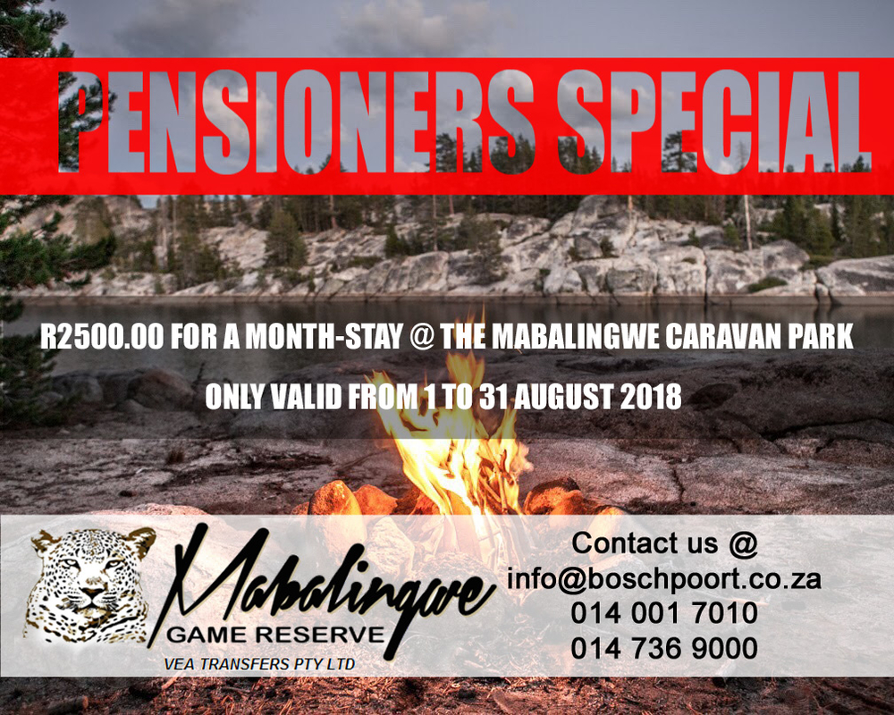 Pensioners Special At Mabalingwe Resort Specials Mabalingwe Game