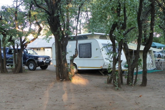 Our setup in Letaba ( ablutions in background)