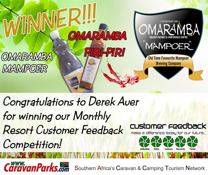 Winner of our Monthly Resort Feedback Competition