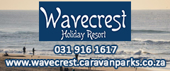 Wavecrest Holiday Resort - Caravan Parks, Camping Sites, Holiday Resorts in KwaZulu-Natal South Africa