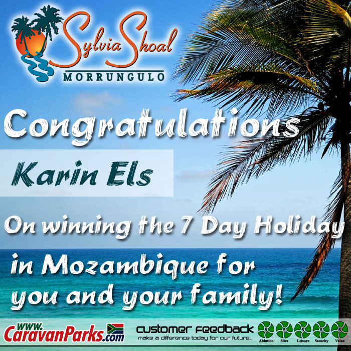 Winner of the 7 day December Holiday in Mozambique for you and your family!