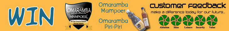 Stand a chance to win Omaramba Mampoer and Piri-Piri Sauce