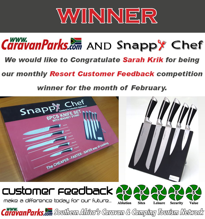 Winner of the 6-piece Snappy Chef Knifes set