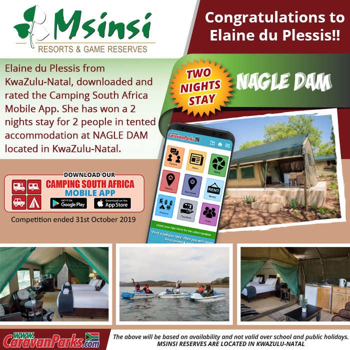2019 October Camping South Africa Mobile App Competition Winner